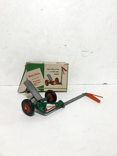 Vintage New Idea Junior-Farmer Tractor Mower w/ Original Box ($125.40)