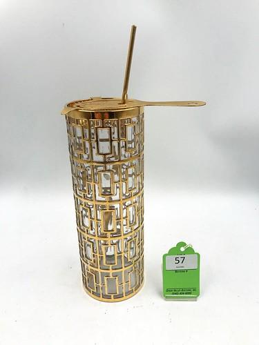 Imperial Glass Shoji Gold Trellis Cocktail Mixer ($547.20)