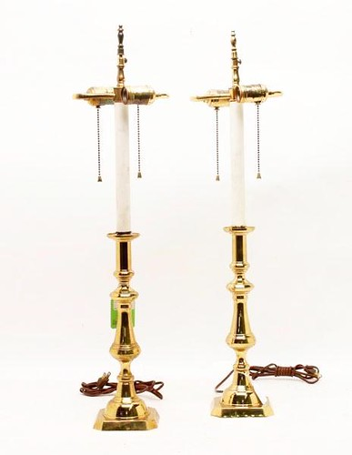 Pair of Harvin Virginia Metalcrafters Table Lamps ($115.14)