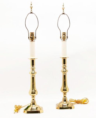 Pair of Virginia Metalcrafters Brass Table Lamps ($313.50)