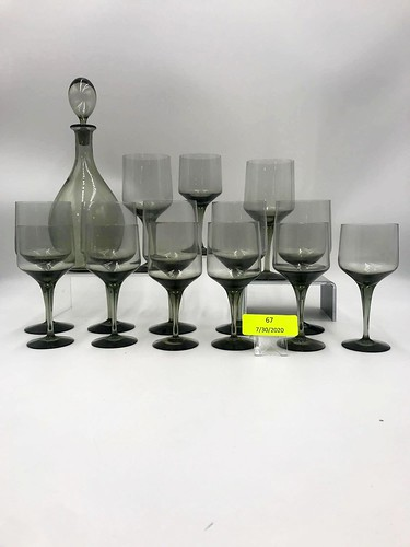 Orrefors Rhapsody Smoke 22  pc.  Beverage Set ($135.66)