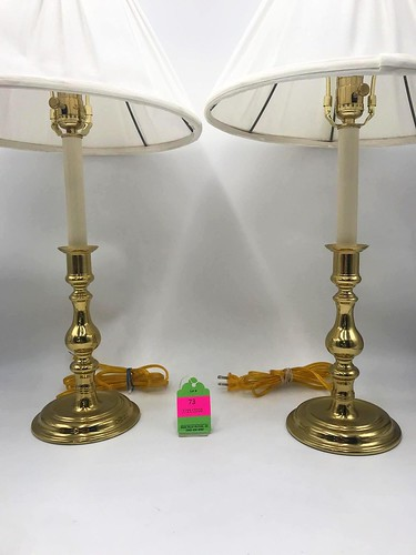 Virginia Metalcrafters Williamsburg Brass Table Lamps ($234.84)