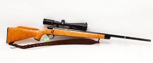 Fine 6mm Bolt Action Rifle with Blond Stock and Nikon Scope ($798.00)