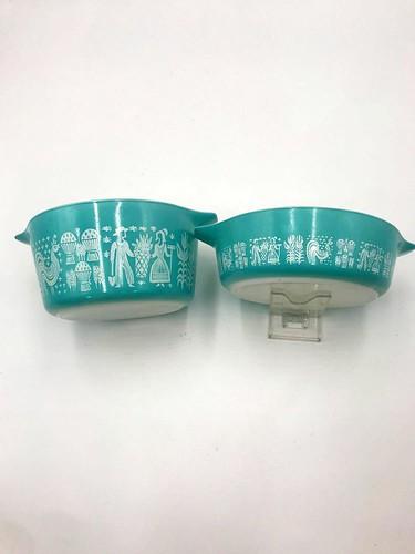 3 pc Amish Butterprint Pyrex Casserole Dishes w/ lids ($95.76)