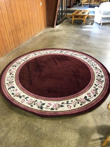 Round Maroon Rug ($321.48)