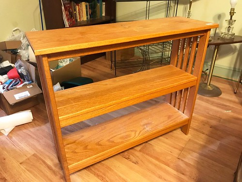 Mission Style Oak Bookshelf (93.48)