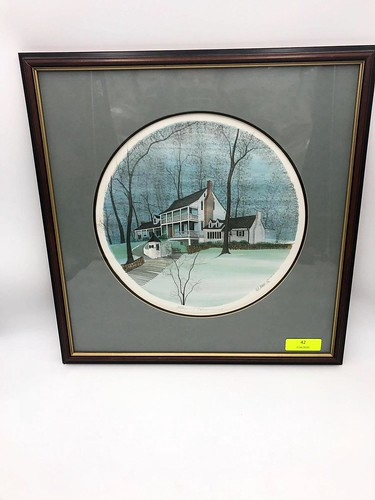 1989 P. Buckley Moss Limited Edition Framed Print  ($344.28)