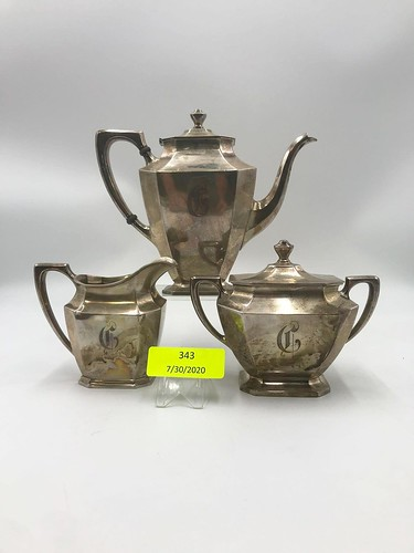 Wallace Sterling 3 pc. Tea Service  ($653.22)