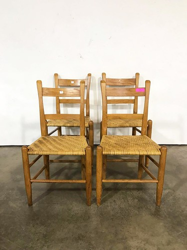 Set of 4 Oak Splint Chairs ($205.20)