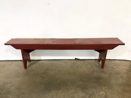 Red Painted Bench ($114.00)
