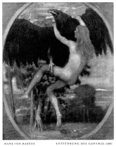 Hans von Marées (1837-1887) - Entführung des Ganymed (1887)