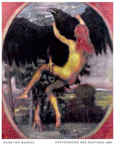 Hans von Marées (1837-1887) - Entführung des Ganymed (1887) colour recombination