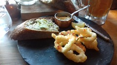 Photo of Crispy Squid, Chilli & Garlic Sauce with Sourdough and Bone Marrow Butter