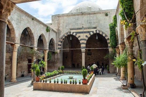 Aleppo Bimaristan (hospital) al- Arghun al-Kamili 1354-55 Mamluk Arghun al-Kamili Mamluk Courtyard