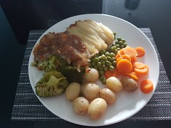 Photo of Cottage pie and vegetables