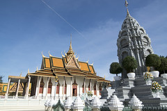 Stupa du roi Norodom devant le Palais Royal de Phnom Penh