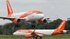 G-EZBR A319-111 & G-EZRY A320-214 EasyJet