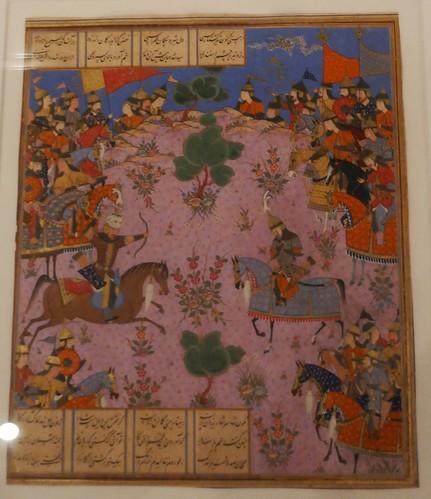 Livre des Rois, Ferdowsi, Iran, Shiraz, 1550-1560, collection  David, Kronprinsessegade, Amalienborg, Copenhague, Danemark.