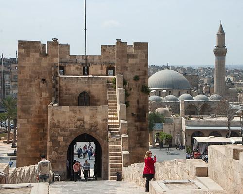 Aleppo Citadel (Qal'at Halab) c.10th-15th cent Entry Complex Bridge Ayyubid Bridge Tower Mamluk (1)