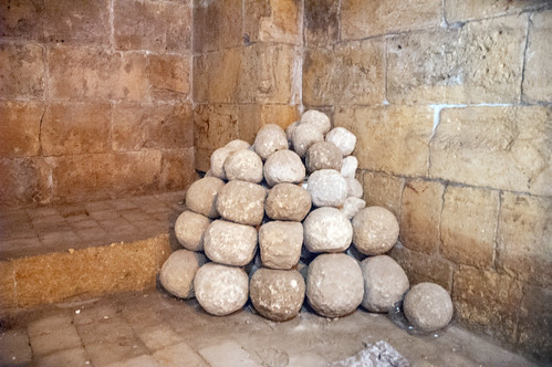 Aleppo Citadel (Qal'at Halab) c.10th-15th cent Entry Complex Citadel Inner Passage Cannon Balls (ballistae)