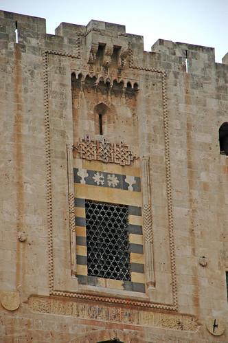 Aleppo Citadel (Qal'at Halab) c.10th-15th cent Throne Hall 1406 Mamluk Window (1e)