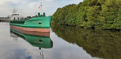 Photo of 7th August 2020. Arklow Valour on the Manchester Ship Canal at Irlam Locks
