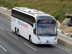 Photo of BV67 JXO - Volvo B11RT / Caetano Levante 2 - Selwyns Travel / National Express - M1 at Milton Keynes 06Aug20