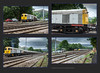 'Royal' 67005 Route Learner tries 4 times & Class 20 shunter at Earles Sidings - 6952+959+960+966