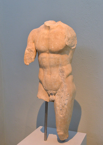 Statue of an athlete in motion from Thasos