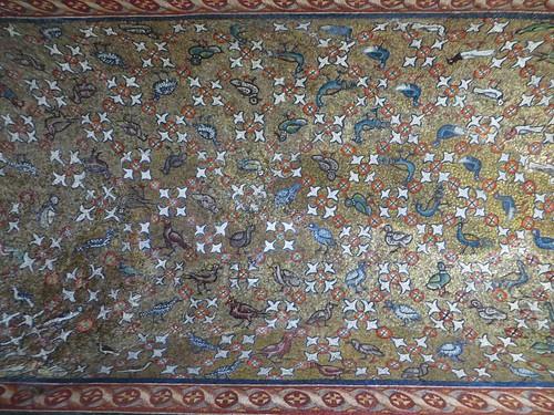 Multitude d'oiseaux, baptistère des Orthodoxes ou de Néon, IVe-Ve siècles, Ravenne, Emilie-Romagne, Italie.