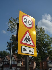 Photo of Fox Hollies Road, Acocks Green - 20 mph School zone sign
