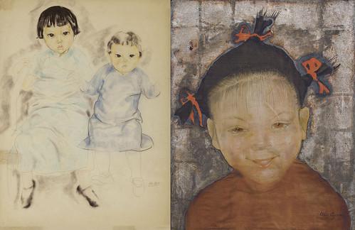 Portrait of Two Vietnamese Children & Portrait of a Young Vietnamese