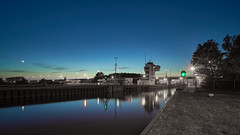View on lock Houtribsluizen Lelystad