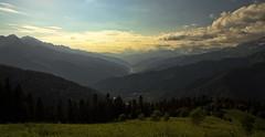 Sunset in Racha Mountains, Georgia