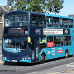 Arriva North East 7415, a 2003 Wright Gemini bodied Volvo B7TL, reg no LF52UOY