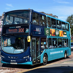 Arriva North East 7603, a 2009 Wright Gemini 2 bodied VDL DB300, reg no NK59DLV