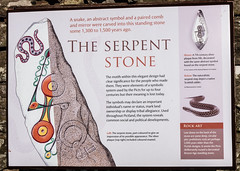 Photo of Information Board on Serpent Stone, Aberlemno