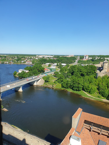 Bridge over the Narva river (Border Estonia-Russia)