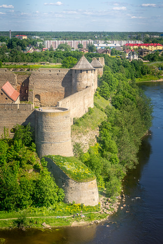 Ivangorod castle (Russian side of the Narva river)
