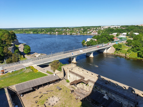 Bridge over the Narva river (Border Estonia - Russia)