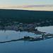 Grand Marais harbor from the air