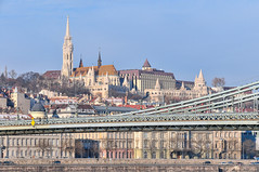 St. Mathias, Buda Castle and the chain bridge - Budapest