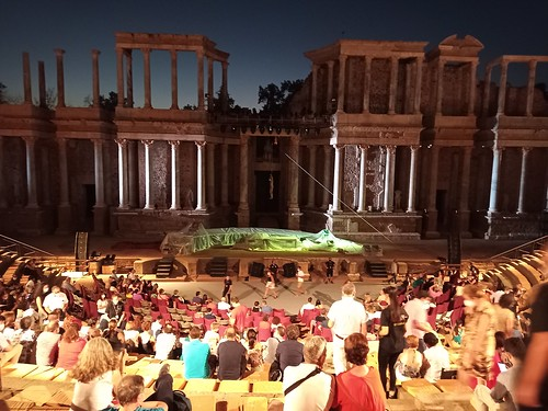Teatro Romano.  Representación de 'Antígona'. Mérida. Badajoz. España