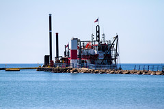Dredging Crew on the North Pier