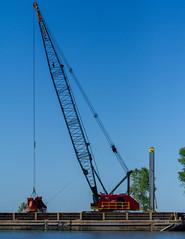 Dredging Crane at Work