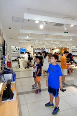 My half Chinese son in Wangfujing, Beijing, China