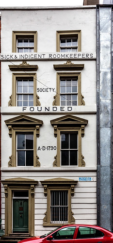 """Sick and Indecent Roomkeepers"" building, Palace Street, Dublin. Ireland. Europe."