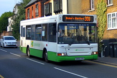 Photo of Shadows: Stephensons of Essex Dennis Dart SLF/Plaxton MPD SN56AYH (406) Silver Street Stansted Mountfitchet 12/08/20
