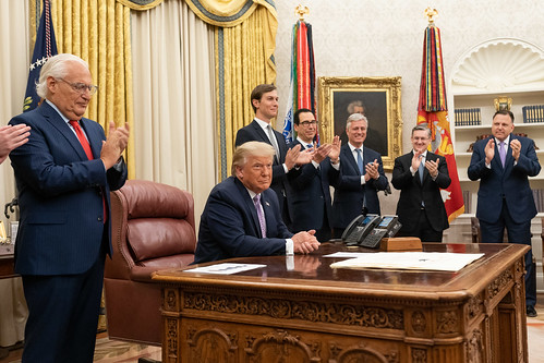 President Trump Delivers a Statement fro by The White House, on Flickr