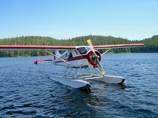 Copy of Lodge Exterior - Red Beaver Floatplane Taxis to Dock